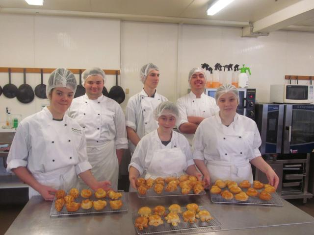 TPP cookery students are baking animal buns for an SPCA fundraiser on Thursday 13 August