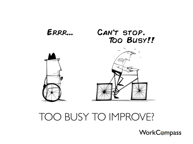 Too Busy To Improve Performance Management Square Wheels
