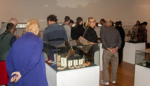 Opening Night crowd at the TPP Hard Stone Jade Carving Student Exhibition 2020 V3